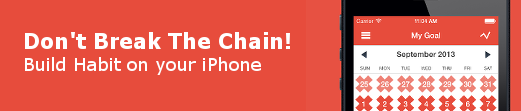 Don't Break The Chain App for iPhone!